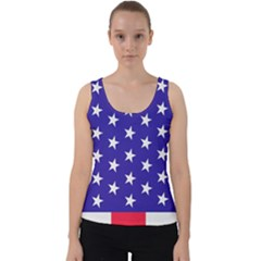 Day Independence July Background Velvet Tank Top
