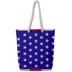 Day Independence July Background Full Print Rope Handle Tote (small)