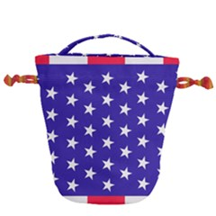 Day Independence July Background Drawstring Bucket Bag by Simbadda