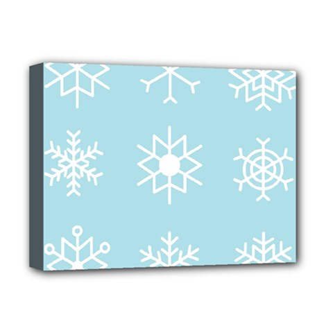 Snowflakes Winter Graphics Weather Deluxe Canvas 16  X 12  (stretched)