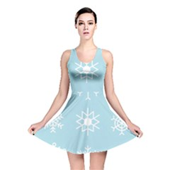 Snowflakes Winter Graphics Weather Reversible Skater Dress