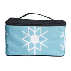 Snowflakes Winter Graphics Weather Cosmetic Storage by Simbadda