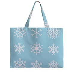 Snowflakes Winter Graphics Weather Zipper Mini Tote Bag