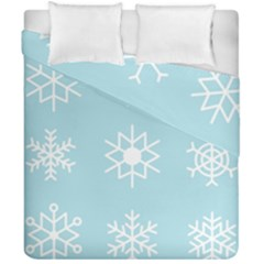 Snowflakes Winter Graphics Weather Duvet Cover Double Side (california King Size)