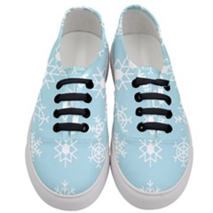 Snowflakes Winter Graphics Weather Women s Classic Low Top Sneakers