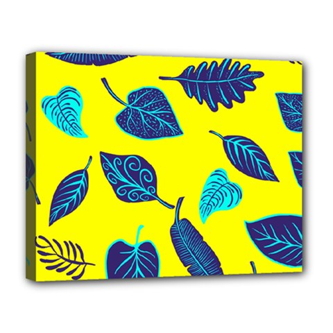 Leaves Pattern Picture Detail Canvas 14  X 11  (stretched) by Simbadda