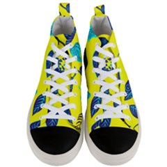 Leaves Pattern Picture Detail Men s Mid Top Canvas Sneakers