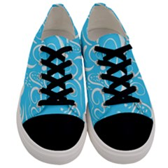 Scribble Reason Design Pattern Men s Low Top Canvas Sneakers