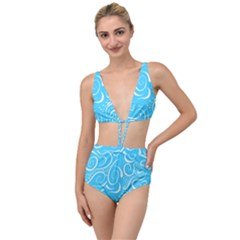 Scribble Reason Design Pattern Tied Up Two Piece Swimsuit