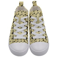 Guitar Guitars Music Instrument Kid s Mid Top Canvas Sneakers