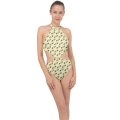 Guitar Guitars Music Instrument Halter Side Cut Swimsuit