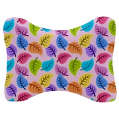 Colorful Leaves Velour Seat Head Rest Cushion by vintage2030