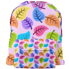 Colorful Leaves Giant Full Print Backpack by vintage2030