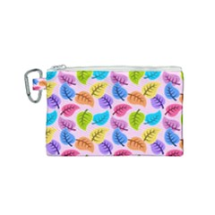 Colorful Leaves Canvas Cosmetic Bag (small)