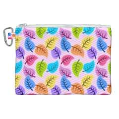 Colorful Leaves Canvas Cosmetic Bag (xl) by vintage2030