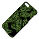 Tropical Leaves On Black Apple iPhone 5 Hardshell Case with Stand View4