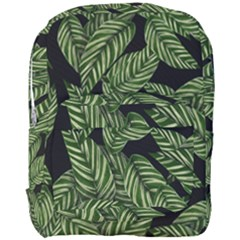Tropical Leaves On Black Full Print Backpack
