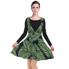 Tropical Leaves On Black Other Dresses