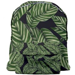 Tropical Leaves On Black Giant Full Print Backpack