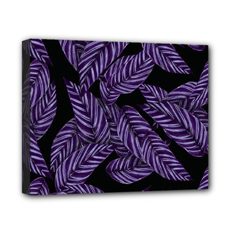Tropical Leaves Purple Canvas 10  X 8  (stretched)