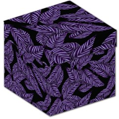 Tropical Leaves Purple Storage Stool 12