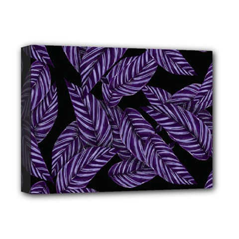 Tropical Leaves Purple Deluxe Canvas 16  X 12  (stretched)