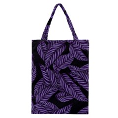 Tropical Leaves Purple Classic Tote Bag by vintage2030