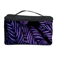 Tropical Leaves Purple Cosmetic Storage