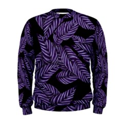 Tropical Leaves Purple Men s Sweatshirt