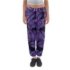 Tropical Leaves Purple Women s Jogger Sweatpants