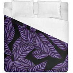 Tropical Leaves Purple Duvet Cover (king Size)