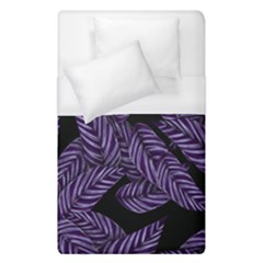 Tropical Leaves Purple Duvet Cover (single Size)
