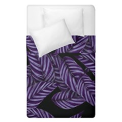 Tropical Leaves Purple Duvet Cover Double Side (single Size)
