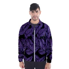 Tropical Leaves Purple Windbreaker (men)