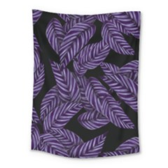 Tropical Leaves Purple Medium Tapestry