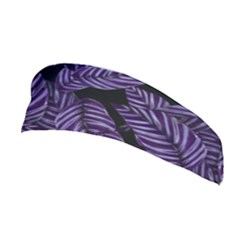 Tropical Leaves Purple Stretchable Headband