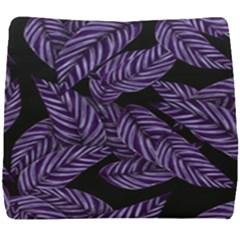 Tropical Leaves Purple Seat Cushion