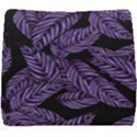 Tropical Leaves Purple Seat Cushion View1