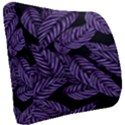 Tropical Leaves Purple Seat Cushion View2