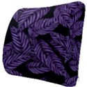 Tropical Leaves Purple Seat Cushion View3