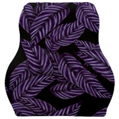 Tropical Leaves Purple Car Seat Velour Cushion