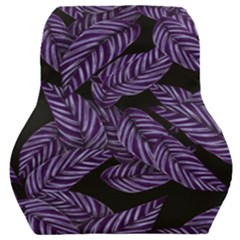 Tropical Leaves Purple Car Seat Back Cushion