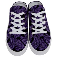Tropical Leaves Purple Half Slippers