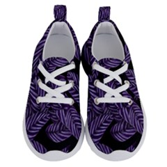Tropical Leaves Purple Running Shoes