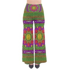 Flowers In Rainbows For Ornate Joy So Vintage Palazzo Pants