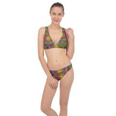 Flowers In Rainbows For Ornate Joy Classic Banded Bikini Set