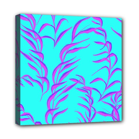 Branches Leaves Colors Summer Mini Canvas 8  X 8  (stretched)