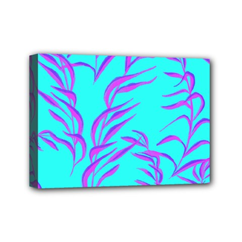 Branches Leaves Colors Summer Mini Canvas 7  X 5  (stretched)