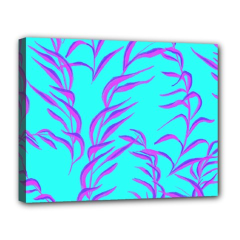Branches Leaves Colors Summer Canvas 14  X 11  (stretched)
