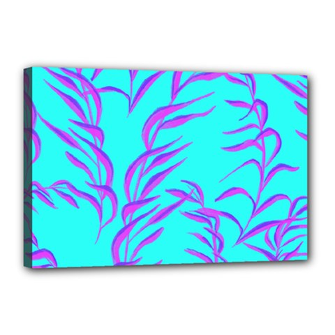 Branches Leaves Colors Summer Canvas 18  X 12  (stretched)